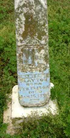 SLAYTON, CHARLES E. - Lawrence County, Arkansas | CHARLES E. SLAYTON - Arkansas Gravestone Photos