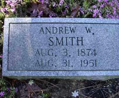 SMITH, ANDREW W - Lawrence County, Arkansas | ANDREW W SMITH - Arkansas Gravestone Photos