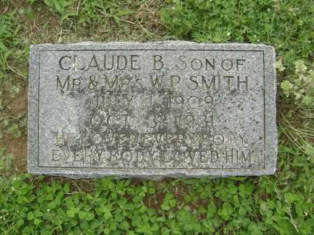 SMITH, CLAUDE B. - Lawrence County, Arkansas   CLAUDE B. SMITH - Arkansas Gravestone Photos