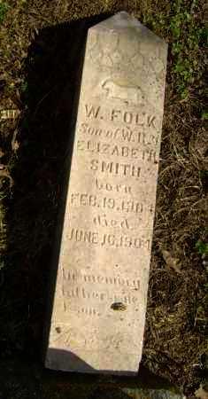 SMITH, W. FOLK - Lawrence County, Arkansas   W. FOLK SMITH - Arkansas Gravestone Photos