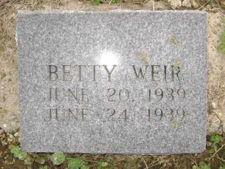 WEIR, BETTY - Lawrence County, Arkansas   BETTY WEIR - Arkansas Gravestone Photos