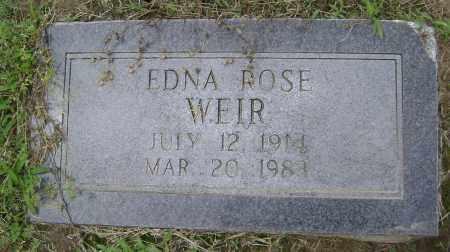 WEIR, EDNA ROSE - Lawrence County, Arkansas | EDNA ROSE WEIR - Arkansas Gravestone Photos