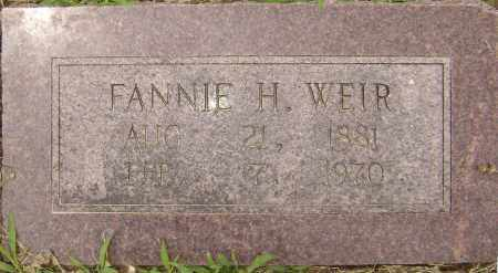 WEIR, FANNIE LESTER - Lawrence County, Arkansas   FANNIE LESTER WEIR - Arkansas Gravestone Photos