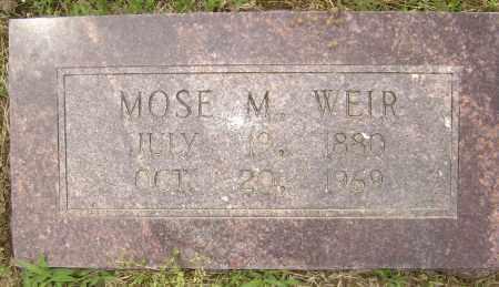 WEIR, MOSE MOORE - Lawrence County, Arkansas | MOSE MOORE WEIR - Arkansas Gravestone Photos