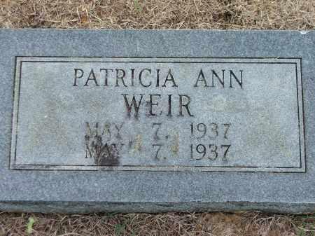 WEIR, PATRICIA ANN - Lawrence County, Arkansas | PATRICIA ANN WEIR - Arkansas Gravestone Photos