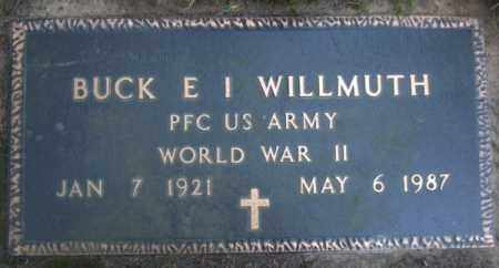 WILLMUTH (VETERAN WWII), BUCK E I - Lawrence County, Arkansas | BUCK E I WILLMUTH (VETERAN WWII) - Arkansas Gravestone Photos