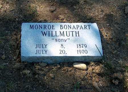 "WILLMUTH, MONROE BONAPART ""BONY"" - Lawrence County, Arkansas | MONROE BONAPART ""BONY"" WILLMUTH - Arkansas Gravestone Photos"
