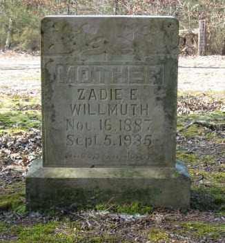 WILLMUTH, ZADIE ETHEL - Lawrence County, Arkansas | ZADIE ETHEL WILLMUTH - Arkansas Gravestone Photos