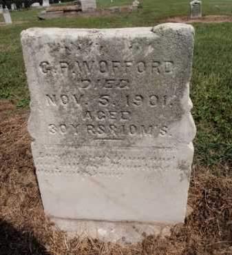 "WOFFORD, GENERAL P ""G P"" - Lawrence County, Arkansas   GENERAL P ""G P"" WOFFORD - Arkansas Gravestone Photos"