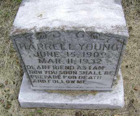 YOUNG, HARRELL - Lawrence County, Arkansas   HARRELL YOUNG - Arkansas Gravestone Photos