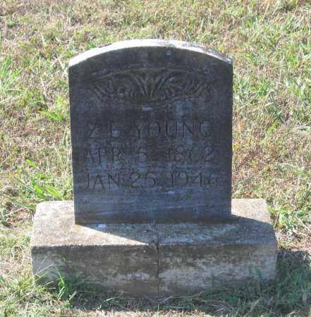 "YOUNG, ZEBEDEE ""Z. B."" - Lawrence County, Arkansas | ZEBEDEE ""Z. B."" YOUNG - Arkansas Gravestone Photos"