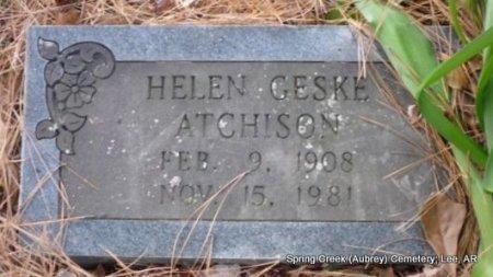 GESKE ATCHISON, HELEN  - Lee County, Arkansas | HELEN  GESKE ATCHISON - Arkansas Gravestone Photos