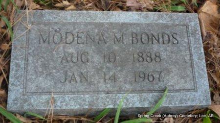BONDS, MODENA M - Lee County, Arkansas | MODENA M BONDS - Arkansas Gravestone Photos