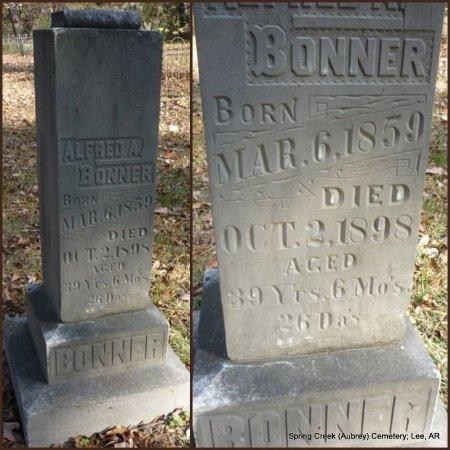 BONNER, ALFRED A - Lee County, Arkansas | ALFRED A BONNER - Arkansas Gravestone Photos