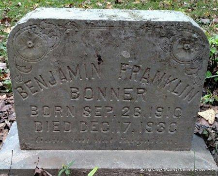 BONNER, BENJAMIN FRANKLIN - Lee County, Arkansas | BENJAMIN FRANKLIN BONNER - Arkansas Gravestone Photos