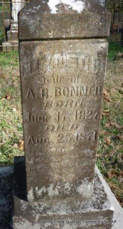 DYE BONNER, ELIZABETH - Lee County, Arkansas | ELIZABETH DYE BONNER - Arkansas Gravestone Photos