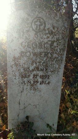 BOWERS (VETERAN), GEORGE - Lee County, Arkansas | GEORGE BOWERS (VETERAN) - Arkansas Gravestone Photos