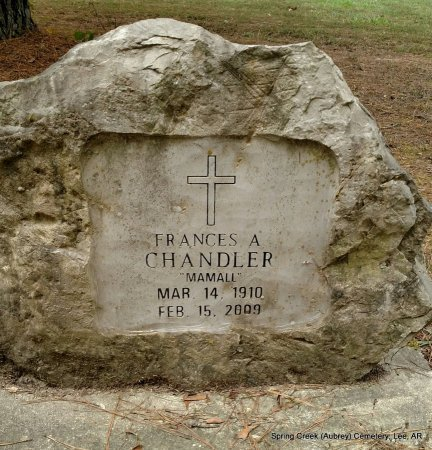 "CHANDLER, FRANCES ALBERTA ""MAMALL"" - Lee County, Arkansas 