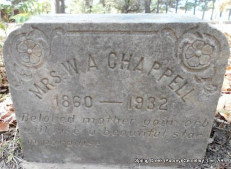 CHAPPELL, LUCY GLEN - Lee County, Arkansas | LUCY GLEN CHAPPELL - Arkansas Gravestone Photos