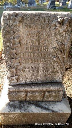 CURTIS, INFANT SON - Lee County, Arkansas | INFANT SON CURTIS - Arkansas Gravestone Photos