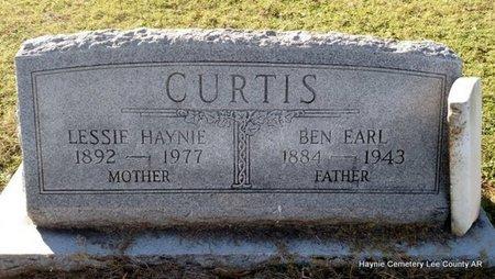 HAYNIE CURTIS, LESSIE - Lee County, Arkansas | LESSIE HAYNIE CURTIS - Arkansas Gravestone Photos