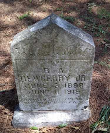 DEWBERRY, JR, R A - Lee County, Arkansas   R A DEWBERRY, JR - Arkansas Gravestone Photos