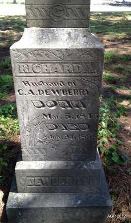 DEWBERRY, RICHARD A (BOTTOM OF STONE) - Lee County, Arkansas | RICHARD A (BOTTOM OF STONE) DEWBERRY - Arkansas Gravestone Photos
