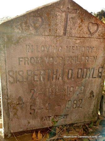 DOYLE, BERTHA D - Lee County, Arkansas | BERTHA D DOYLE - Arkansas Gravestone Photos
