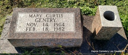 CURTIS GENTRY, MARY - Lee County, Arkansas   MARY CURTIS GENTRY - Arkansas Gravestone Photos