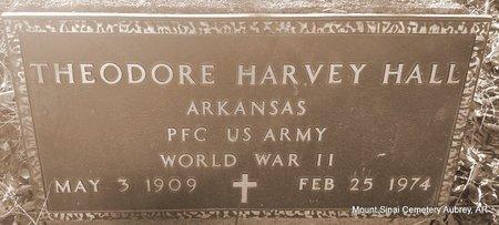 HALL (VETERAN WWII), THEODORE HARVEY - Lee County, Arkansas | THEODORE HARVEY HALL (VETERAN WWII) - Arkansas Gravestone Photos