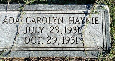 HAYNIE, ADA CAROLYN - Lee County, Arkansas   ADA CAROLYN HAYNIE - Arkansas Gravestone Photos