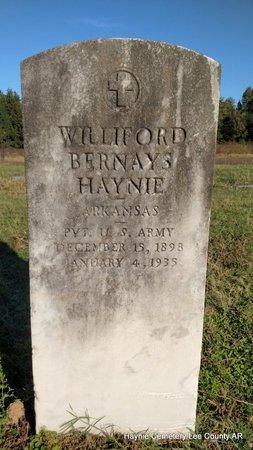 HAYNIE (VETERAN), WILLIFORD BERNAYS - Lee County, Arkansas   WILLIFORD BERNAYS HAYNIE (VETERAN) - Arkansas Gravestone Photos