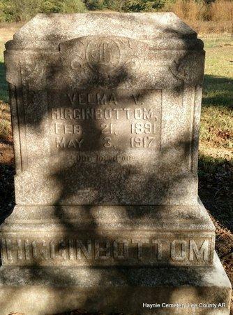 HIGGINBOTTOM, VELMA V - Lee County, Arkansas   VELMA V HIGGINBOTTOM - Arkansas Gravestone Photos