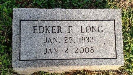 LONG, EDKER F - Lee County, Arkansas | EDKER F LONG - Arkansas Gravestone Photos