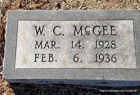 MCGEE, W C - Lee County, Arkansas   W C MCGEE - Arkansas Gravestone Photos
