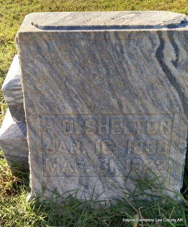 SHELTON, P D - Lee County, Arkansas | P D SHELTON - Arkansas Gravestone Photos