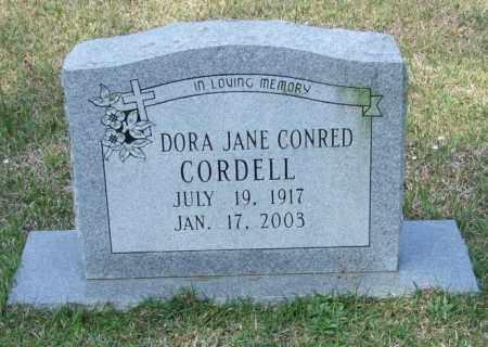 CONRED CORDELL, DORA JANE - Lincoln County, Arkansas | DORA JANE CONRED CORDELL - Arkansas Gravestone Photos