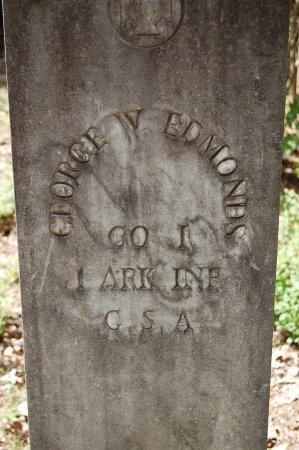 EDMONDS (VETERAN CSA), GEORGE W - Lincoln County, Arkansas | GEORGE W EDMONDS (VETERAN CSA) - Arkansas Gravestone Photos