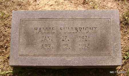 FULLBRIGHT, HALLIE - Lincoln County, Arkansas | HALLIE FULLBRIGHT - Arkansas Gravestone Photos