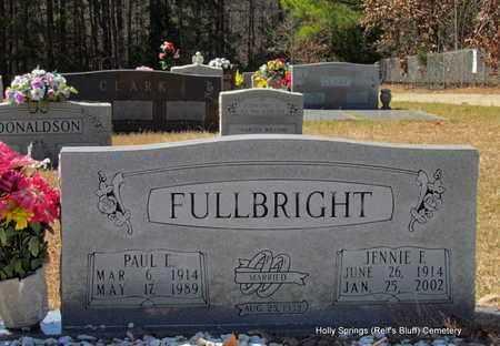 FULLBRIGHT, JENNIE F - Lincoln County, Arkansas | JENNIE F FULLBRIGHT - Arkansas Gravestone Photos