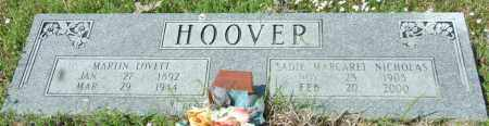 HOOVER, SADIE MARGARET - Lincoln County, Arkansas | SADIE MARGARET HOOVER - Arkansas Gravestone Photos