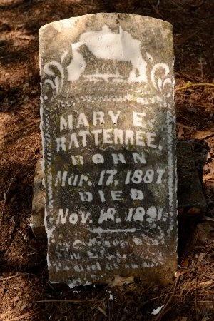 RATTERREE, MARY EMELINE - Lincoln County, Arkansas | MARY EMELINE RATTERREE - Arkansas Gravestone Photos