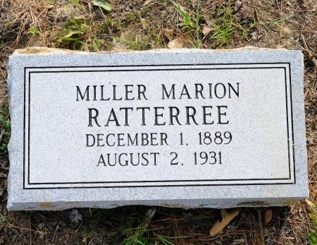 RATTERREE, MILLER MARION - Lincoln County, Arkansas | MILLER MARION RATTERREE - Arkansas Gravestone Photos