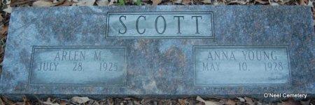 SCOTT, ARLEN M - Lincoln County, Arkansas   ARLEN M SCOTT - Arkansas Gravestone Photos