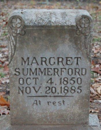 SUMMERFORD, MARGRET - Lincoln County, Arkansas | MARGRET SUMMERFORD - Arkansas Gravestone Photos