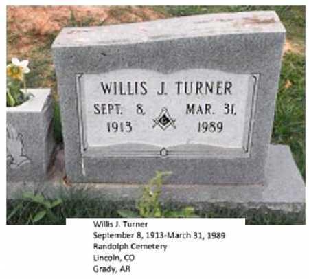 TURNER, WILLIS J - Lincoln County, Arkansas | WILLIS J TURNER - Arkansas Gravestone Photos