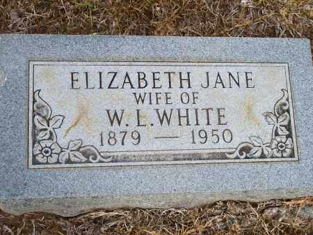 WHITE, ELIZABETH JANE - Lincoln County, Arkansas | ELIZABETH JANE WHITE - Arkansas Gravestone Photos