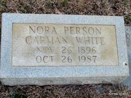 WHITE, NORA - Lincoln County, Arkansas | NORA WHITE - Arkansas Gravestone Photos