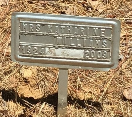 WILLIAMS, KATHARINE - Lincoln County, Arkansas | KATHARINE WILLIAMS - Arkansas Gravestone Photos
