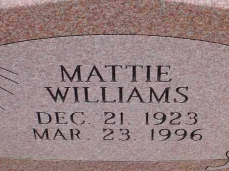 WILLIAMS, MATTIE - Lincoln County, Arkansas | MATTIE WILLIAMS - Arkansas Gravestone Photos